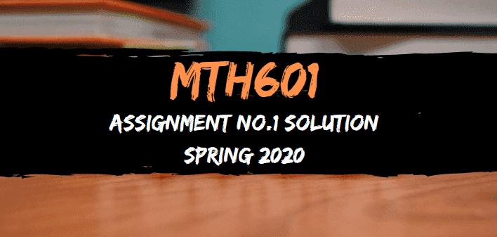 MTH601