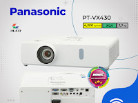 LCD Projector Panasonic PT‐VX430, 4500 lumens, XGA (1024 x 768)