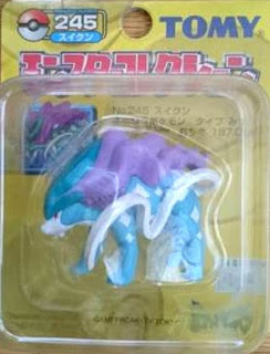 Suicune Pokemon figure Tomy Monster Collection yellow package series