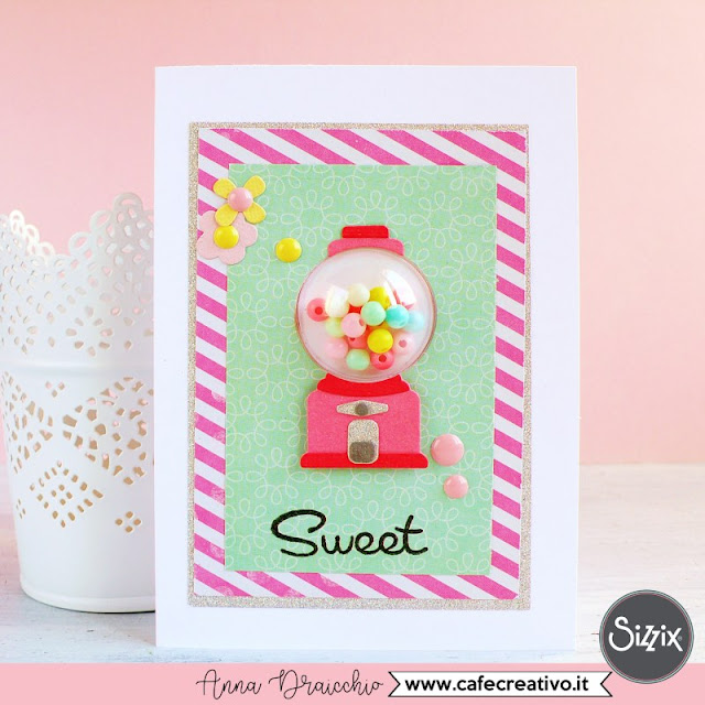 Gumball shaker card con Dimensional Domes