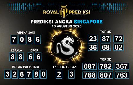 Royal Prediksi SGP Senin 10 Agustus 2020