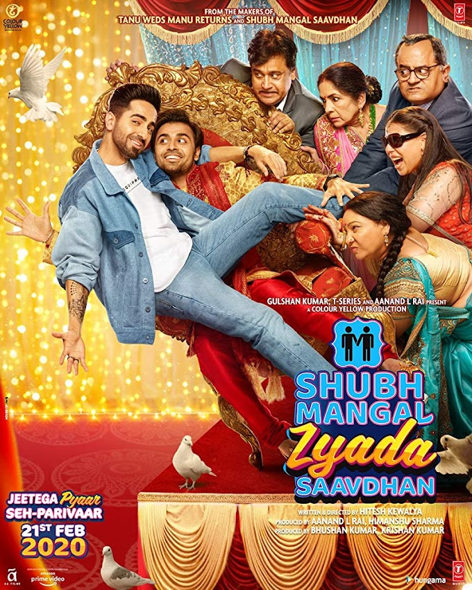 Shubh Mangal Zyada Saavdhan (2020) Hindi Movie 720p Pre-DVDRip 1.2GB