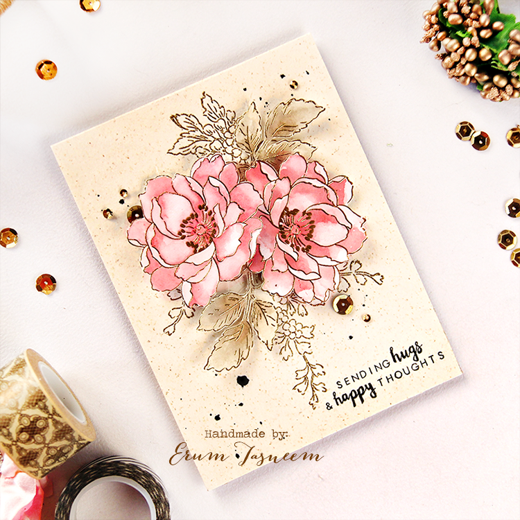 Altenew Beautiful Day stamp set, watercolored using distress inks