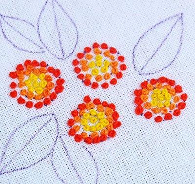 Hướng dẫn thêu hoa ngũ sắc - Hình 6