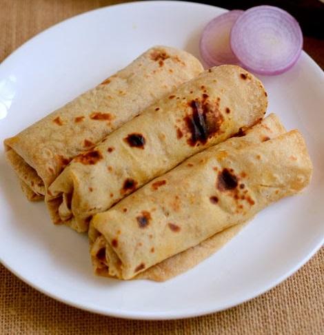 Healthy Lunch Box Recipes: Chapati Rolls