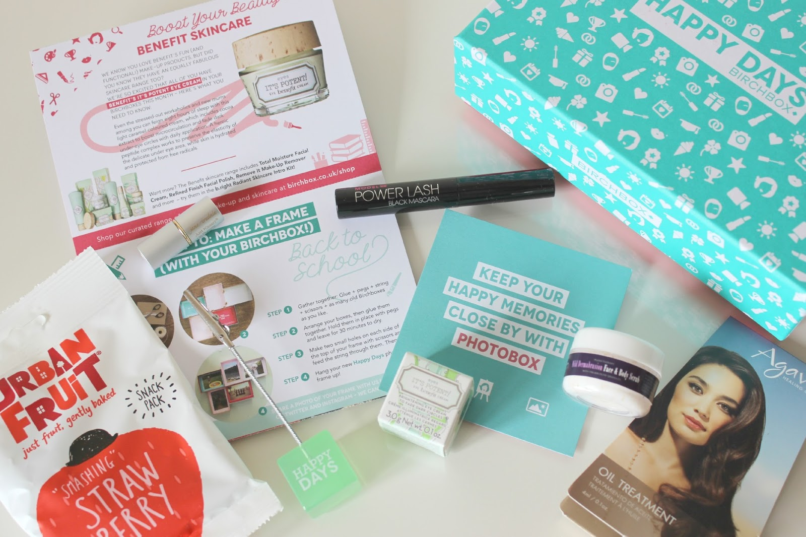 A picture of the September Birchbox UK