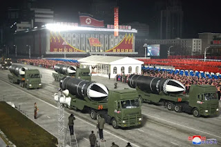 North Korea Parade the World's Most Powerful Weapon