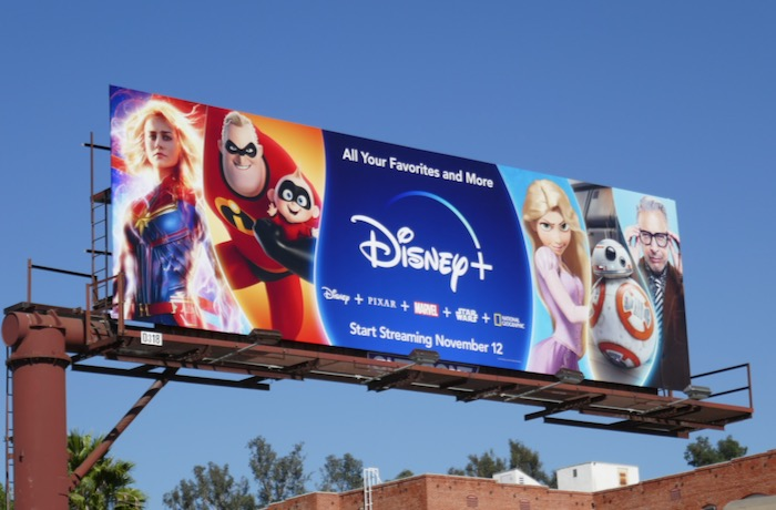 Disney+ Captain Marvel BB8 billboard