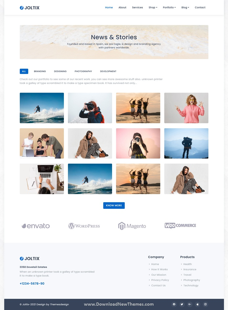 Bootstrap 5 Minimal Portfolio and Agency Template