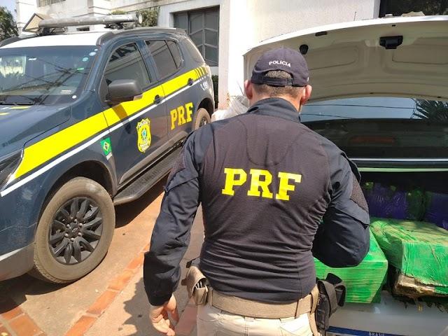 PRF e PC apreendem 228 Kg de maconha e prendem trio em Nova Andradina (MS)