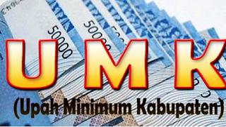 Daftar Upah Minimum Kabupaten UMK 2017