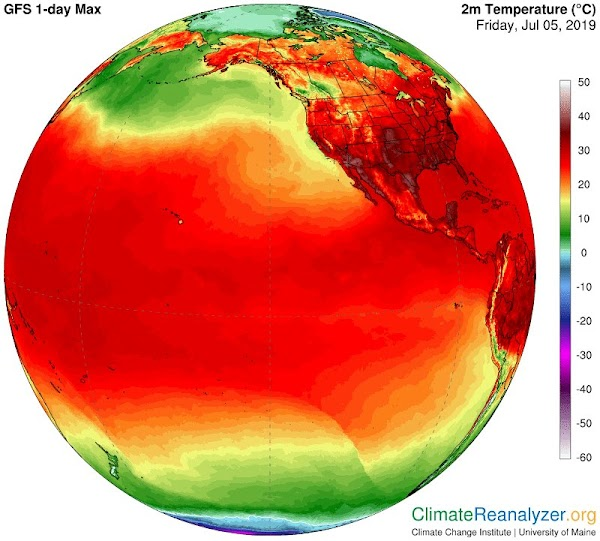 Alaska: termómetros llegan a 32 grados centigrados
