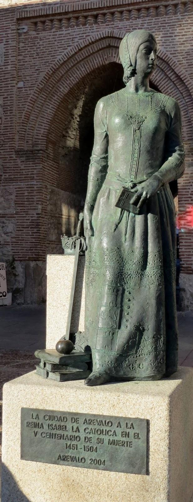 La Ruta de Isabel. Arévalo. Monumento Reina Isabel de Castilla