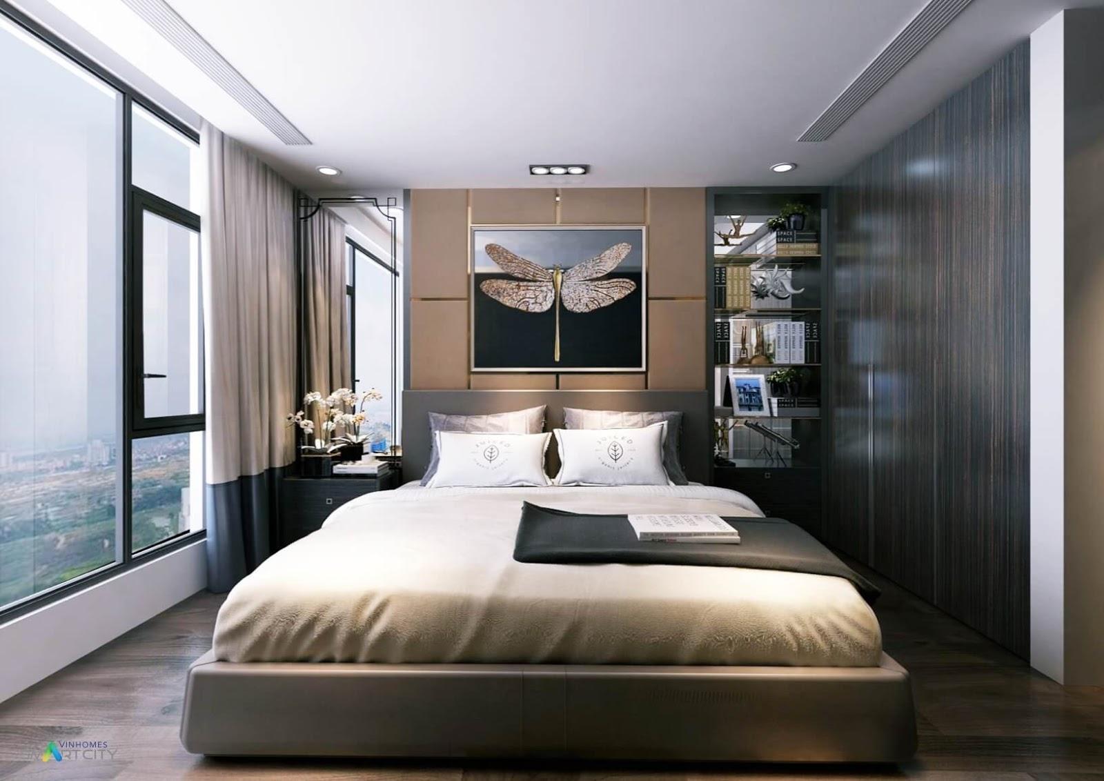 Nội thất phòng ngủ chung cư Vinhomes Smart City