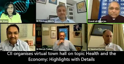 CII organises virtual town hall on topic Health and the Economy: Highlights with Details