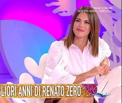 Bianca Guaccero fan di Renato Zero detto fatto 30 settembre