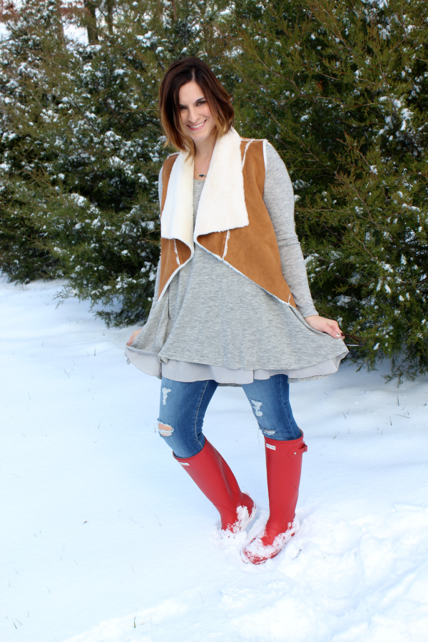 nella boutique, mom style, mom blogger, style on a budget, hunter boots, winter fashion