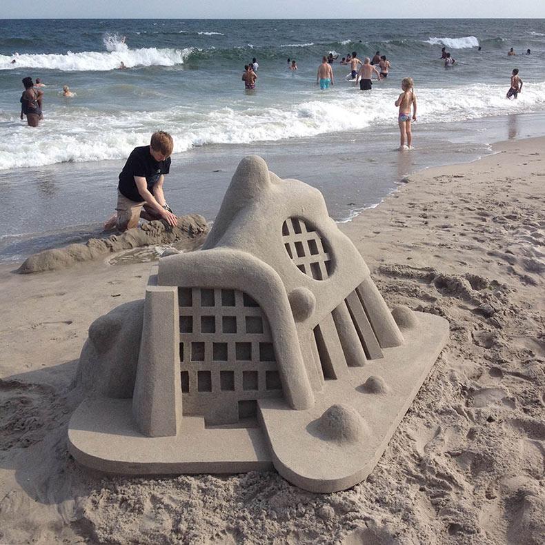 20 impresionantes castillos de arena de Calvin Seibert
