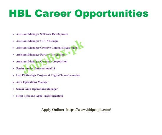 hbl-jobs-2021-apply-online
