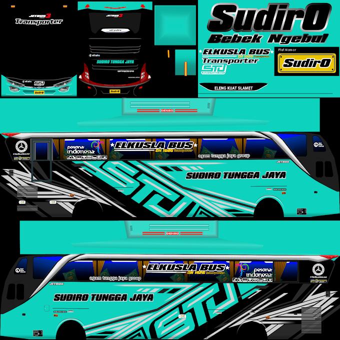 Sudiro Tungga Jaya Transporter Tosca : Skin Livery Bus Simulator Indonesia