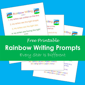 Rainbow Writing Prompts (Free Printable)