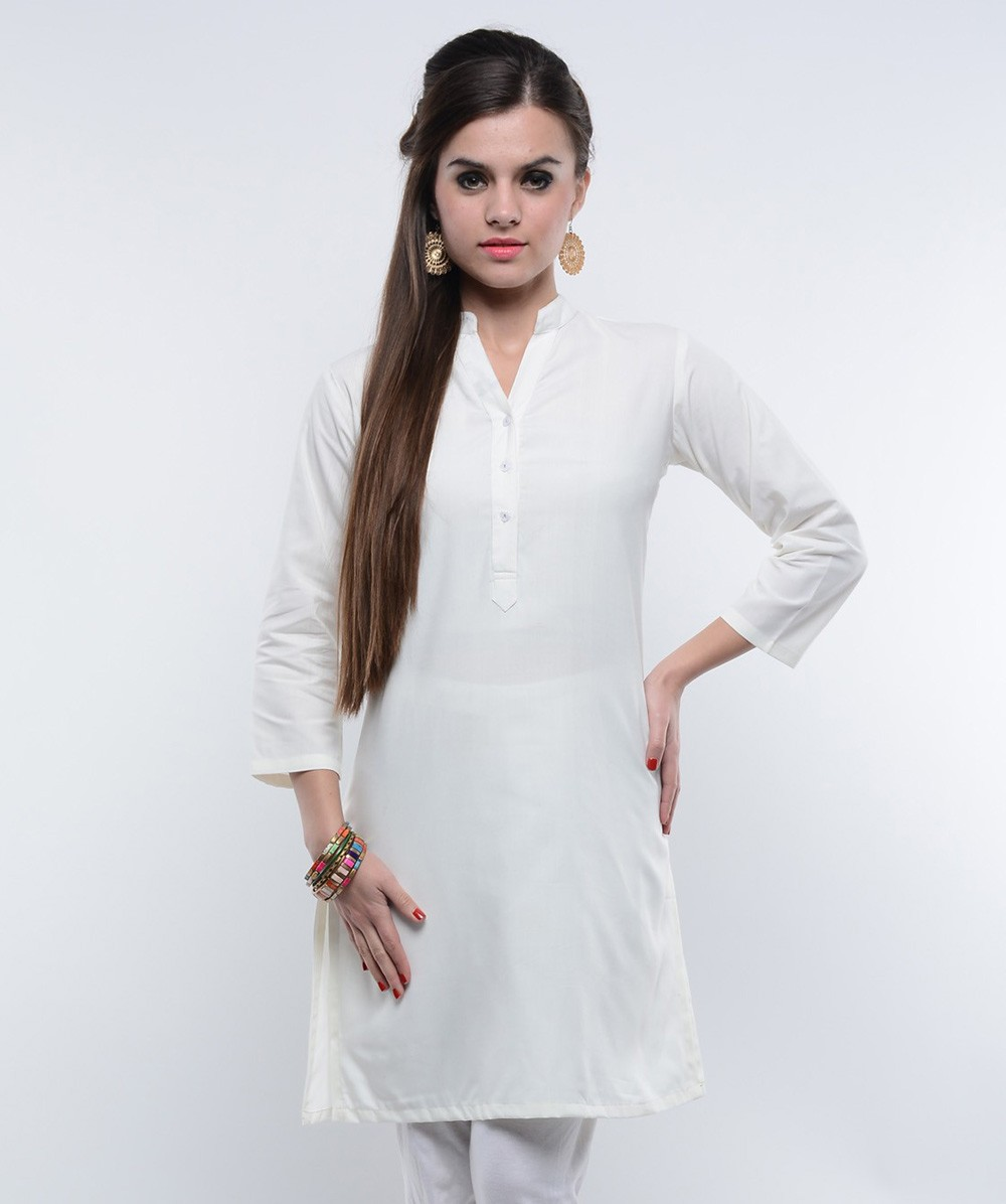 Holi Special White kurtis from Megha Shop