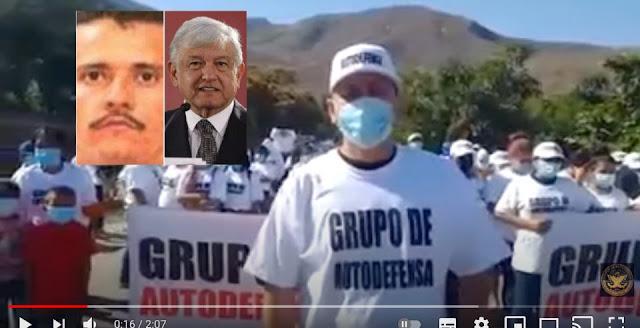 """VIDEO: Pidiendo ayuda a AMLO para lucha contra El Mencho,""""Tenemos que levantarnos, y ya traemos armas  no queremos a esos cabrones para acá."""