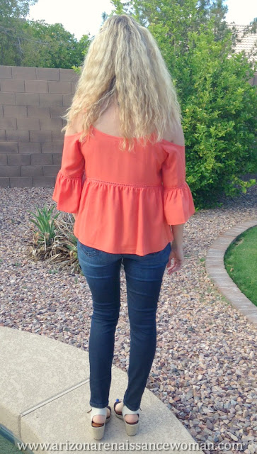 STATE Cold Shoulder Peasant Top - Trunk Club Review - April 2016