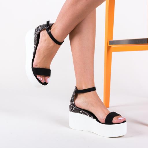 Platforme casual cu imprimeu piele sarpe fashion