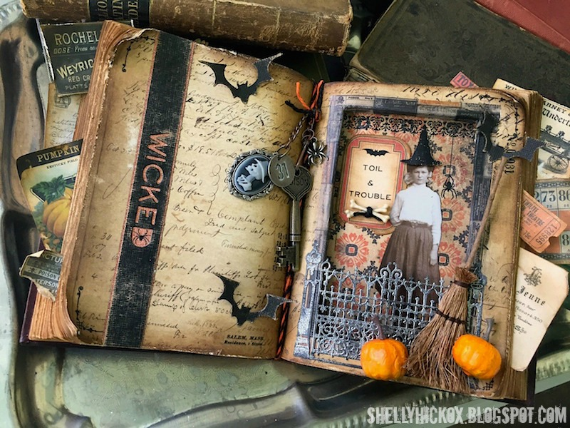 Stamptramp: Wicked Halloween Altered Book