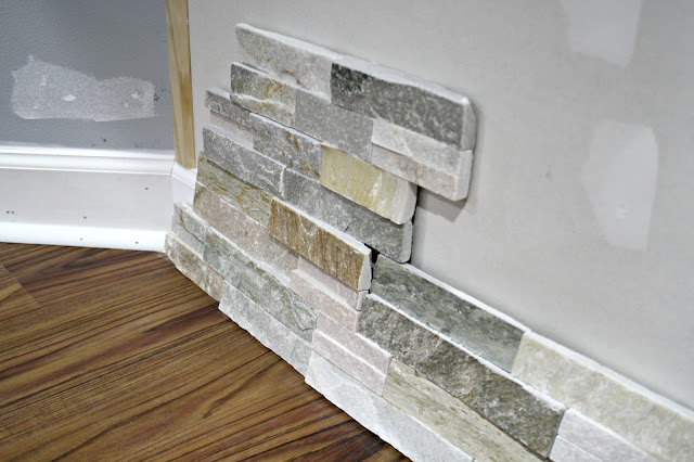 stacked stone for fireplace wall