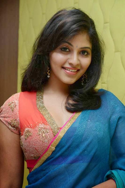 Anjali Latest Hot Photos in Saree At Masala Audio Launch ...