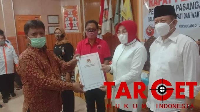 Pasangan Sri Bambang Dalam Pilkada Grobogan 2020 Ditetapkan Sebagai Pemenang Oleh KPU