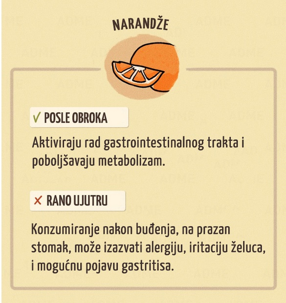 Konzumiranje narandzi