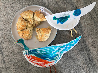 Scones and peacocks