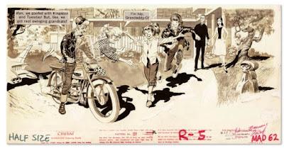 MAD ilustración de Wally Wood - rockeros