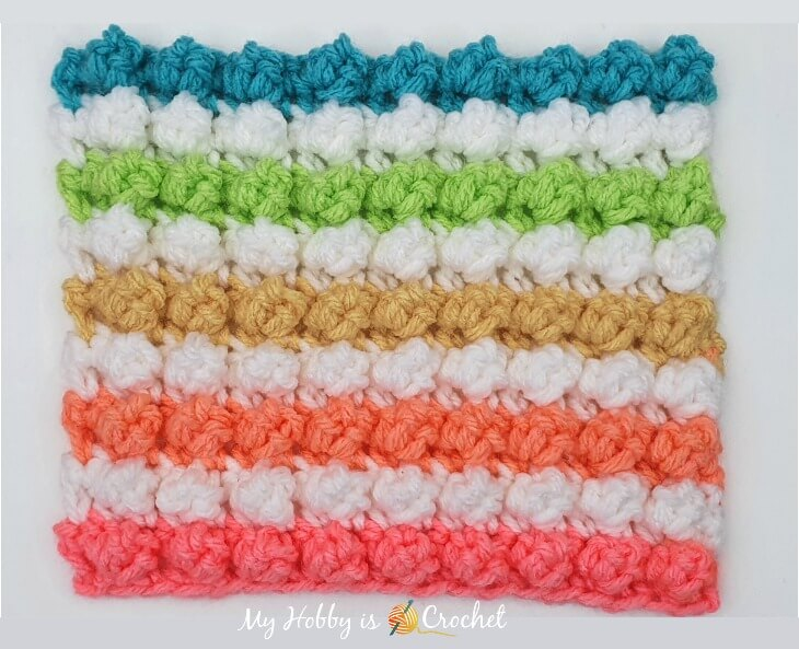 how to crochet the single crochet bobble stitch
