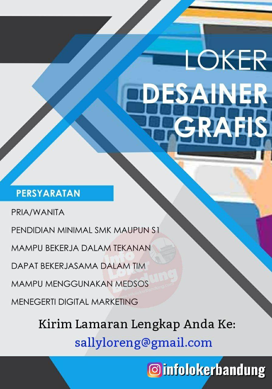 Lowongan Kerja Desainer Grafis Sally Loreng Bandung November 2019