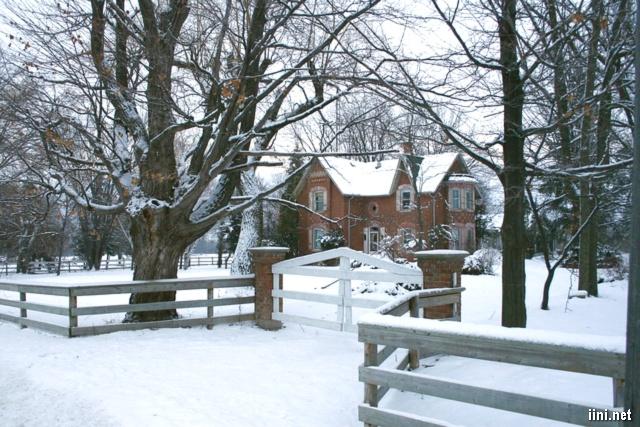 ảnh ngôi nhà giữa mùa đông băng giá