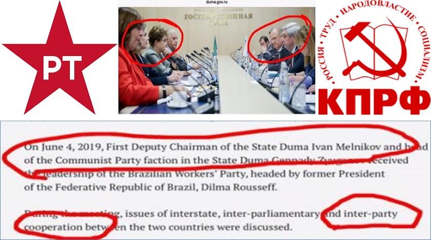 PERIGO PARA O BRASIL: Dilma e Gleisi fecham acordo com extremistas da Rússia