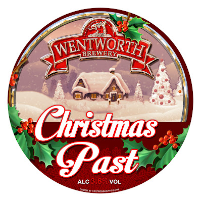 Image shows artwork by Hot Frog Graphics for Christmas Past beer clip