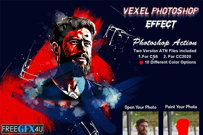 Vexel Photoshop Effect