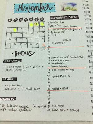 contoh bullet journal indonesia pemula monthly log