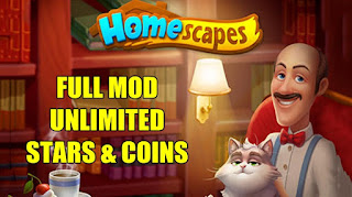 Download Homescapes v3.3.6 MOD APK Unlimited Stars & Coins Update Terbaru