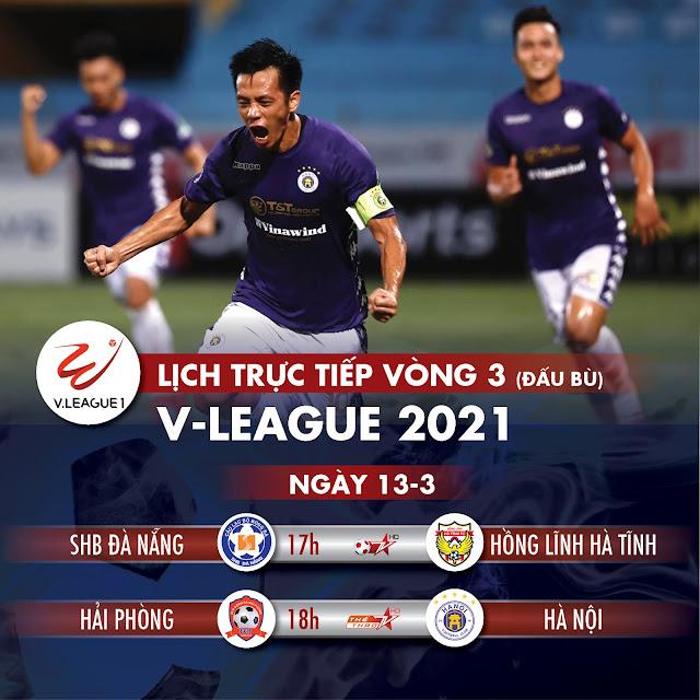 Lịch trực tiếp vòng 3 V-League 2021: Tâm điểm Hải Phòng - Hà Nội