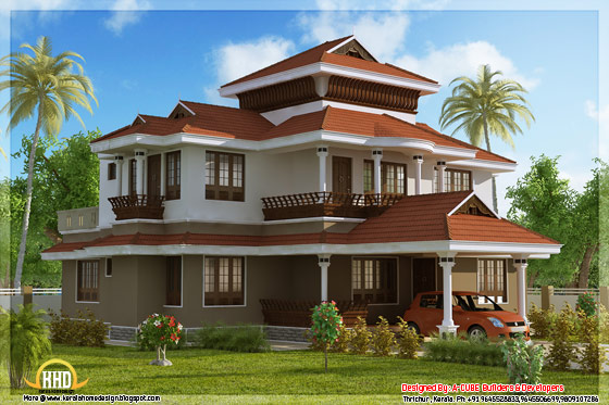 2437 square feet 4 bedroom stunning Kerala home design - May 2012