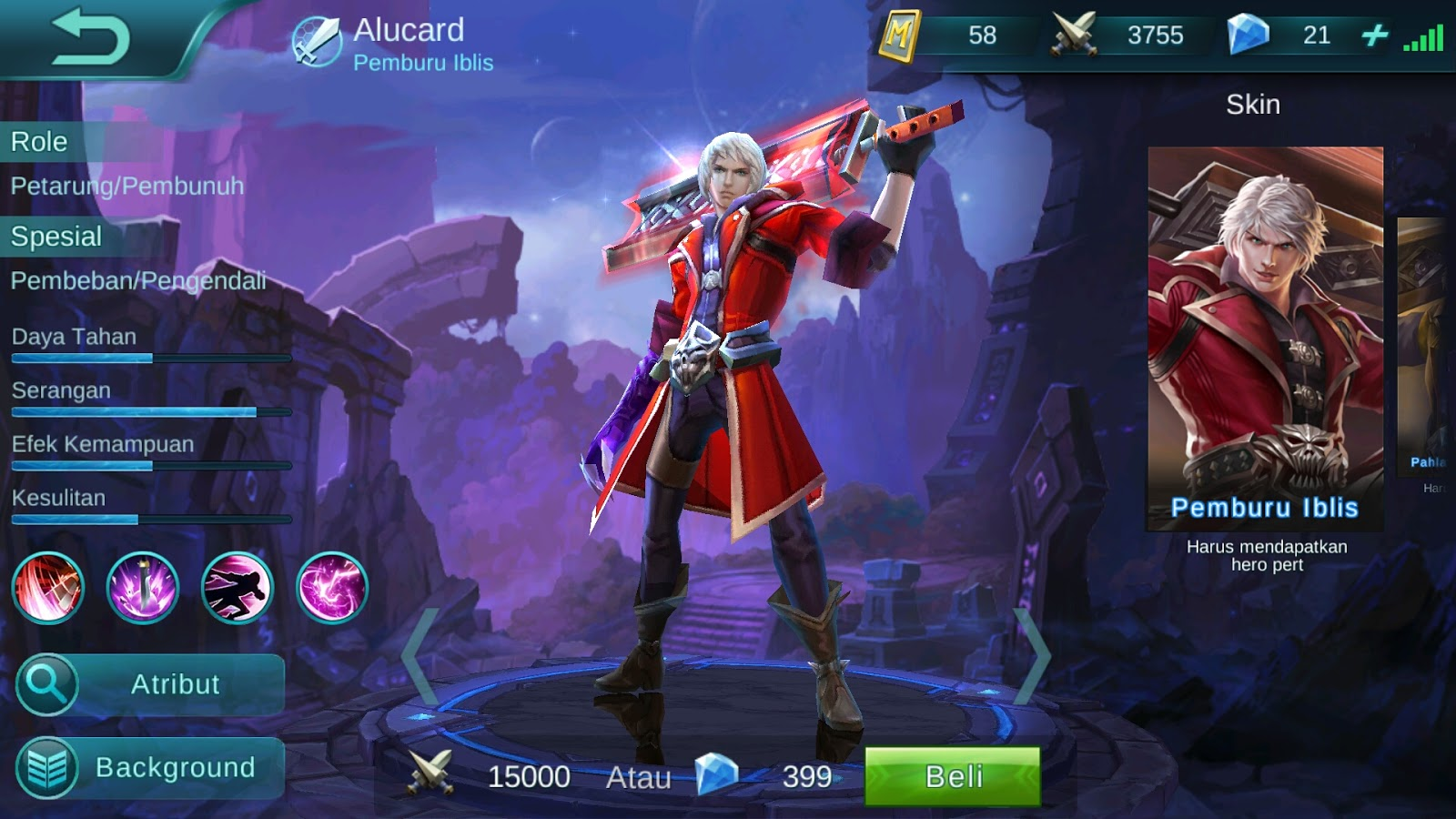Alucard Child Of The Fall Wallpaper Hd Foto Mobile Legend Alucard Terbaru Kawan Modifikasi