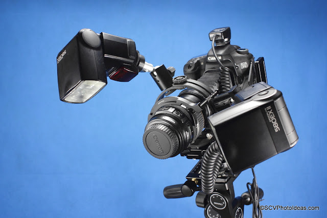 SCV Transportable Macro Rig w/ Hejnar MS-3 macros stage -macro flash bracket & Sunwayfoto DRH-77 focusing handle