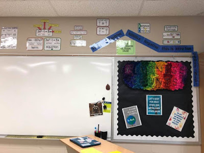 Ms. Banderman math word wall