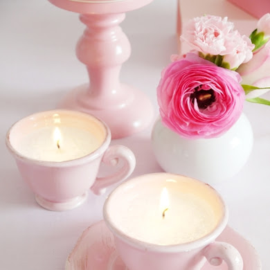 DIY Tea Cup Scented Candles Tutorial